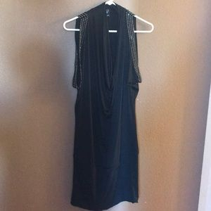 Windsor Black cocktail dress with studded accents